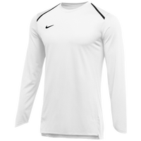 Nike Team Breath Elite L/S Top - Men's - White / Black
