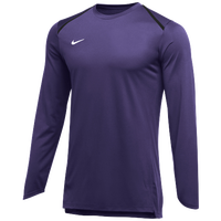 Nike Team Breath Elite L/S Top - Men's - Purple / White