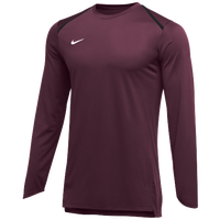 Nike Team Breath Elite L/S Top - Men's - Maroon / White