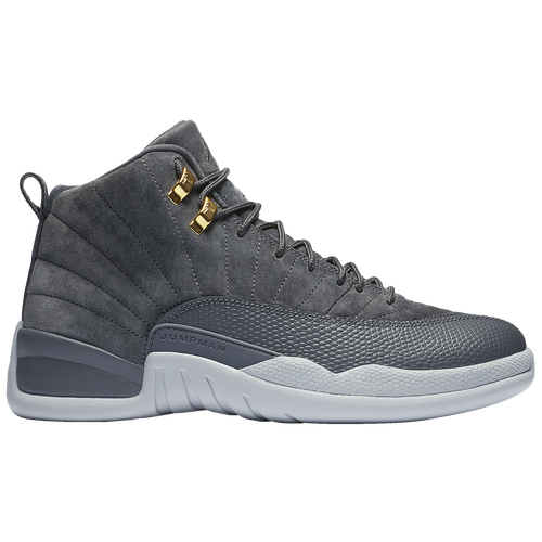 new styles 3547e b071b Jordan Retro 12 - Men s - Basketball - Shoes - Dark Grey Dark Grey Wolf Grey Golden  Harvest