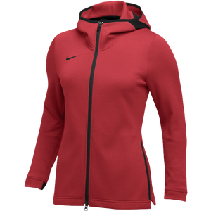 Nike Team Dry Showtime Full-Zip Hoodie - Women's - Scarlet/Black
