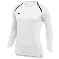 Nike Team Breath Elite L/S Top - Women's - White / Black