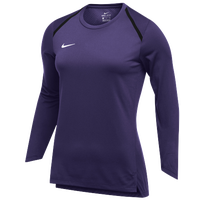 Nike Team Breath Elite L/S Top - Women's - Purple / White
