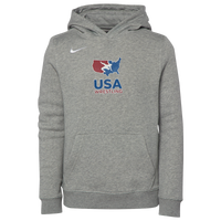 Nike USA Wrestling Team Club Training Hoodie - Grade School - Grey