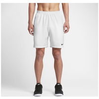 "Nike Court Dry 9"" Shorts - Men's - White / Black"