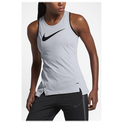 Nike Elite Basketball Tank - Women's Basketball - Wolf Grey/Black 30957012