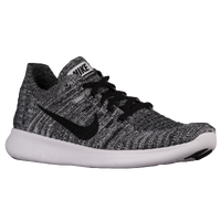 nike free rn flyknit mens black and white