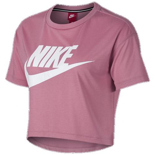 Nike Essential Crop T-Shirt - Women's Casual - Elemental Pink/White 3144678