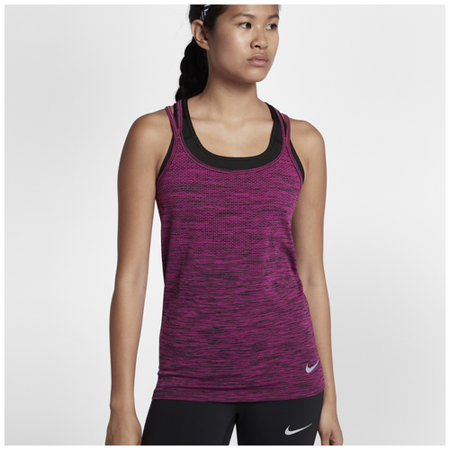 Discounts Nike Dri-Fit Knit Tank Lethal Pink/Black For Women Sale