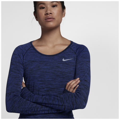 ee4a5112f629 Nike Dri-FIT Knit Long Sleeve T-Shirt - Women s - Running - Clothing ...