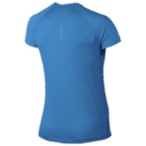 2cbe4494 Nike Dri-FIT Miler Crew Short Sleeve T-Shirt - Women's - Clothing - Light  Photo Blue