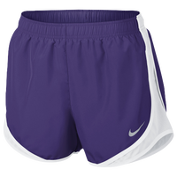 "Nike Dri-FIT 3.5"" Tempo Shorts - Women's - Purple / White"