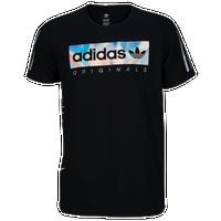 adidas Originals Graphic T-Shirt - Men's Casual - Black/Iridescent Silver