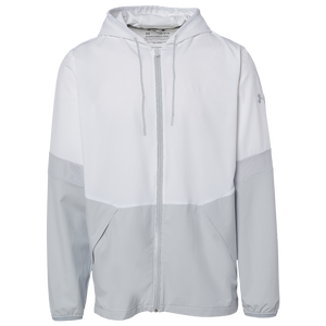 Under Armour Team Squad Woven 2.0 Warm-Up Jacket - Men's - White/Halo Grey