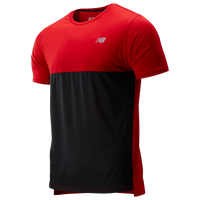 New Balance Accelerate Short Sleeve T-Shirt - Men's - Red / Red