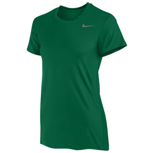 Nike Team Legend Short Sleeve T-Shirt - Women's - Dark Green/Cool Grey