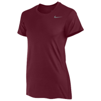 Nike Team Legend Short Sleeve T-Shirt - Women's - Maroon / Maroon