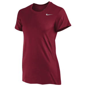 Nike Team Legend Short Sleeve T-Shirt - Women's - Crimson/Cool Grey