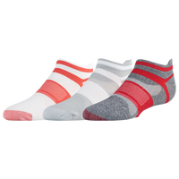 ASICS® Quick Lyte Single Tab 3 Pack Socks - Women's - Grey / Red
