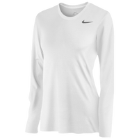 Nike Team Legend Long Sleeve T-Shirt - Women's - All White / White