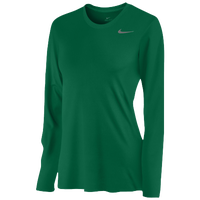 Nike Team Legend Long Sleeve T-Shirt - Women's - Dark Green / Dark Green
