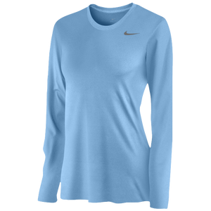 Nike Team Legend Long Sleeve T-Shirt - Women's - Light Blue/Cool Grey