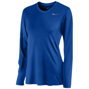 Nike Team Legend Long Sleeve T-Shirt - Women's - Royal/Cool Grey