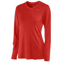 Nike Team Legend Long Sleeve T-Shirt - Women's - Red / Red