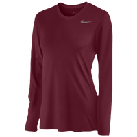 Nike Team Legend Long Sleeve T-Shirt - Women's - Maroon / Maroon