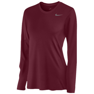 Nike Team Legend Long Sleeve T-Shirt - Women's - Deep Maroon/Cool Grey