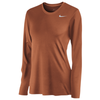 Nike Team Legend Long Sleeve T-Shirt - Women's - Orange / Orange