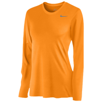 Nike Team Legend Long Sleeve T-Shirt - Women's - Orange / Grey