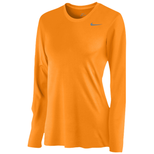 Nike Team Legend Long Sleeve T-Shirt - Women's - Bright Ceramic/Cool Grey