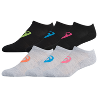 ASICS® Invasion No Show 6 Pack Socks - Women's - Black / Grey