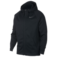 Nike Therma Full Zip Hoodie - Men's - Black / Grey