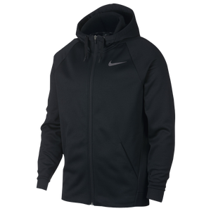Nike Therma Full Zip Hoodie - Men's - Black/Dark Grey