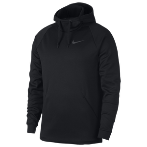 Nike Therma Fleece Hoodie - Men's - Black/Dark Grey