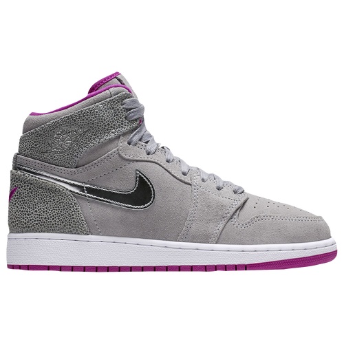 jordans shoes for girls high tops. jordan retro 1 high - girls\u0027 grade school basketball shoes moore, maya wolf grey/chrome/fuchsia flash/white jordans for girls tops h