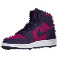 d01e393bcdc554 Jordan AJ 1 High - Girls  Grade School - Pink   Purple