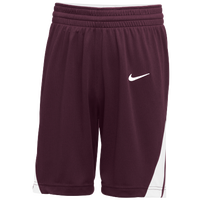 Nike Team National Shorts - Men's - Maroon / White