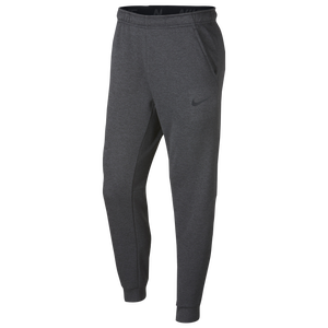 Nike Therma Fleece Tapered Pants - Men's - Charcoal Heather/Black