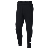 Nike Therma Fleece Tapered Pants - Men's - Black / White