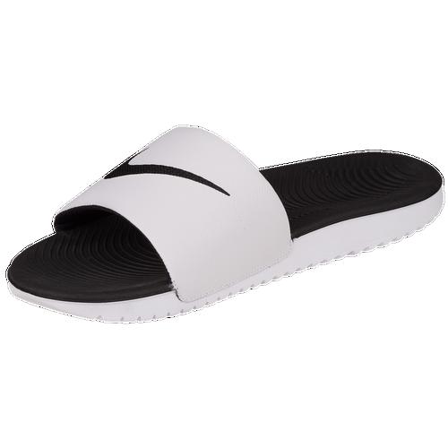 Mens White Slide On Shoes