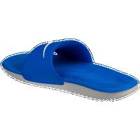 nike kawa slide men s casual shoes blue jay white wolf grey