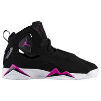 jordan true flight girls grade school black  pink