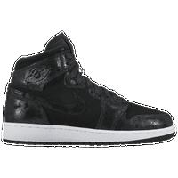 19fd065f5f46 Jordan AJ 1 High Premium - Girls  Grade School - Black   White