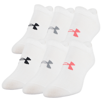 Under Armour Essential 6 Pack 2.0 No Show Socks - Women's - White