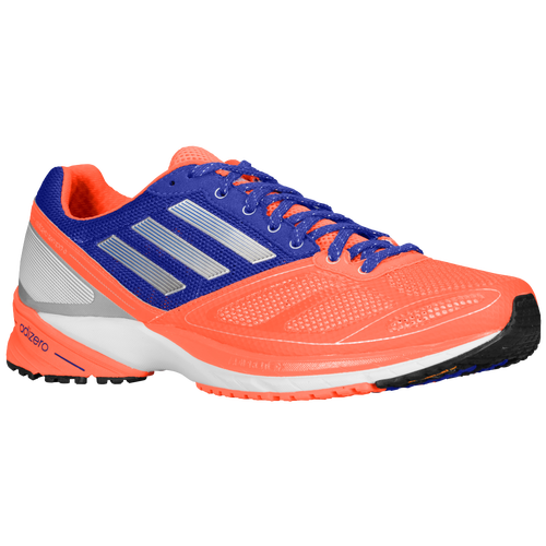 Adidas Men adiZero Tempo 6 - Infrared/Tech Silver Metallic/Hero Ink