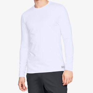 Under Armour ColdGear Armour Fitted Crew - Men's - White/Steel