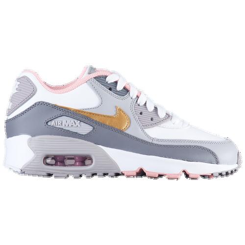 4b33280332 Nike Air Max 90 - Girls' Grade School - Casual - Shoes - Gunsmoke ...